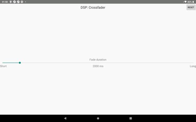 De gebruikersinterface van Foobar is minimalistisch, wat eerlijk gezegd een verademing is. Hier zie je het instelscherm voor de crossfade-tijd.