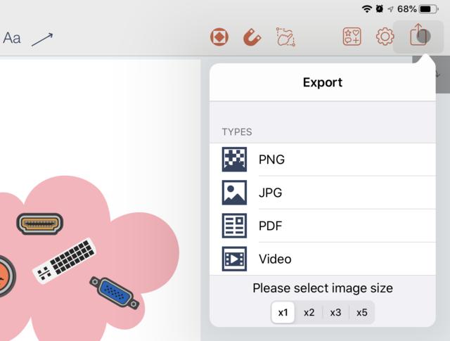 Je kunt je infographic of andere creatie in verschillende bestandsformaten exporteren.