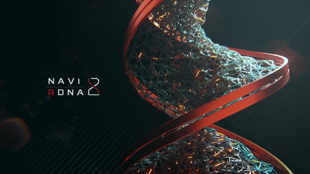3D-animatie die als 'teaser' dient voor AMD's volgende Navi 2X / RDNA 2 generatie aan GPU's.