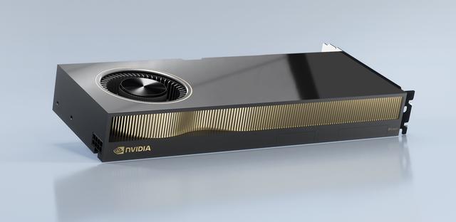 Ontwerp van de NVIDIA RTX A6000-videokaart