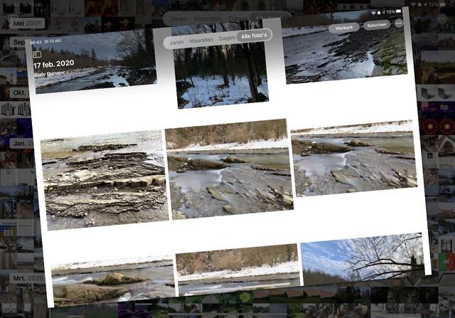 Je kunt veel verder in- en uitzoomen in het foto-overzicht van een album.