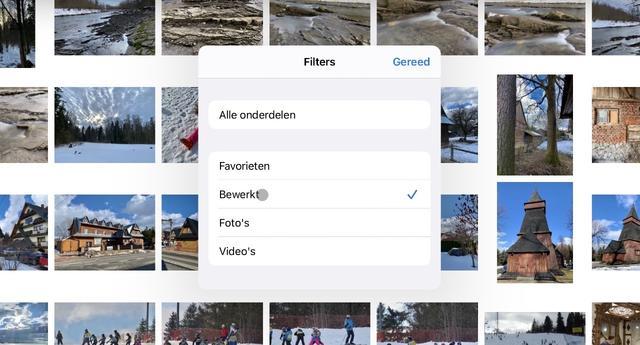 Een filter maakt een album - mogelijk - net wat overzichtelijker.