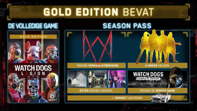 Watch Dogs Legion Gold Edition content