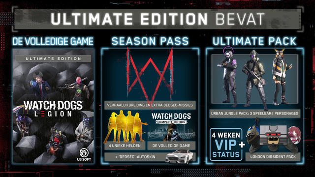 Watch Dogs Legion UltimateEdition content