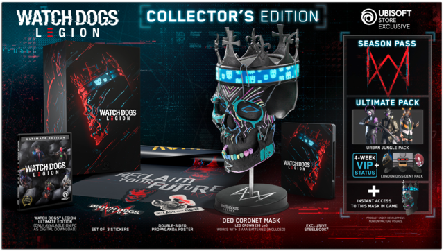 Watch Dogs Legion Collector's Edition content