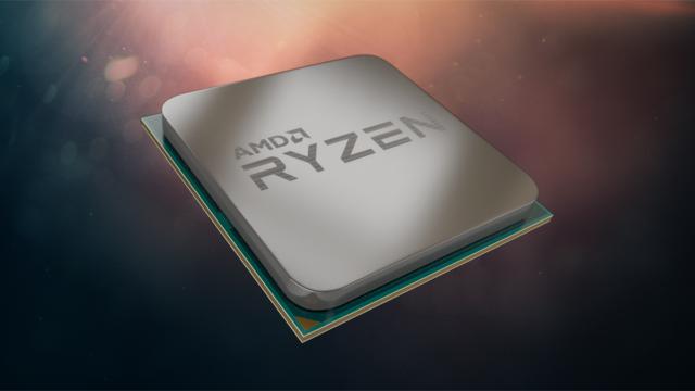 Render van een Ryzen-processor van AMD.