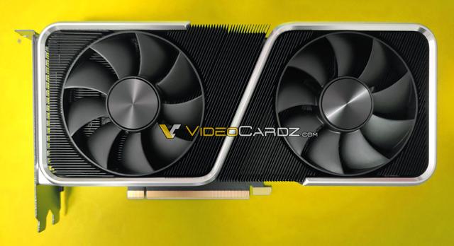 Uitgelekte foto van NVIDIA's eigen Founder's Edition van de GeForce RTX 3060 Ti-videokaart.