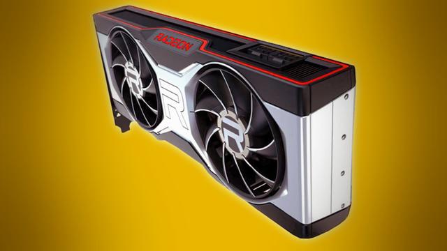 Een met AI verbeterde render van de nog onaangekondigde AMD Radeon RX 6700, dan wel het XT-model daarvan.