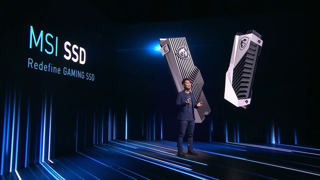 Live-presentatie van MSI over hun MSI Gaming SSD, een nvme-opslagmedium voor pc-gamers.