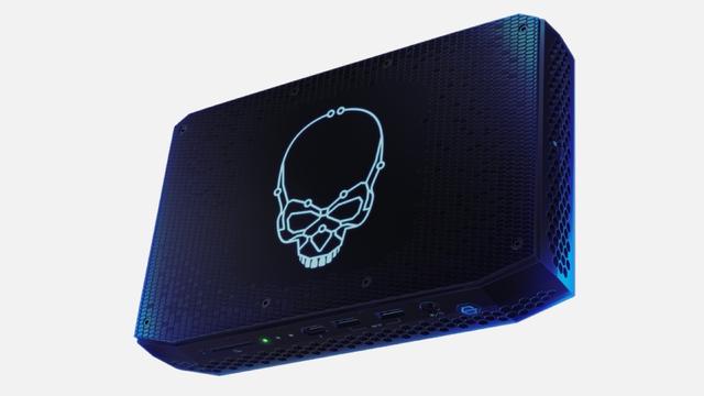 Productfoto van het Intel NUC 11 Pro Enthusiast-systeem.