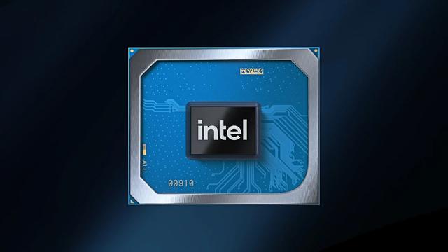 Afbeelding van een grafische processor van Intel onder het Xe-vaandel.