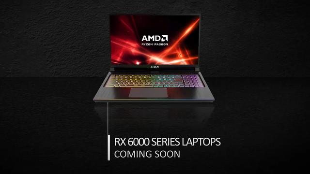 Teaser-afbeelding van AMD, welke aangeeft dat de Radeon RX 6000-chipsets binnenkort ook richting de notebook-markt optuigen.