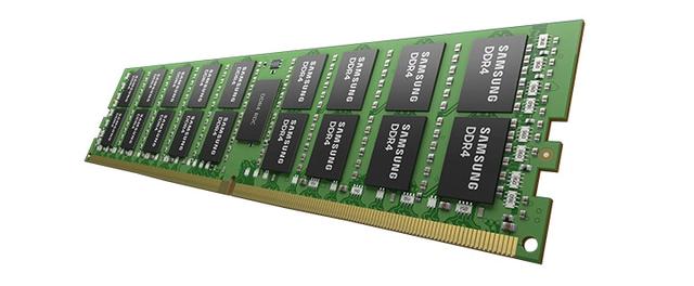 Render van een DDR4-geheugenschijf, zonder enig omhulsel.