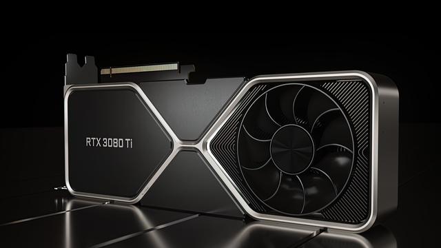 Promotionele render van de Nvidia GeForce RTX 3080 Ti