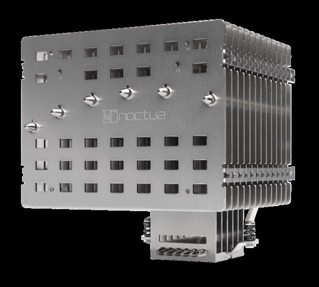 Promotionele foto van de Noctua NH-P1, Noctua's eerste geheel ventilatorloze cpu-koeler.