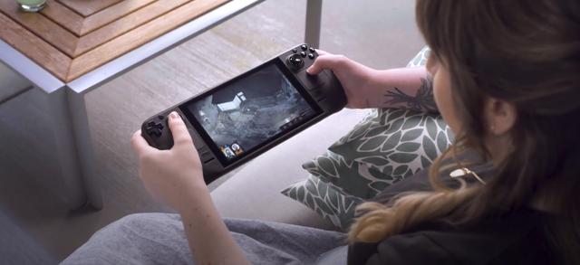 De Steam Deck van Valve in gebruik met het spel Disco Elysium.