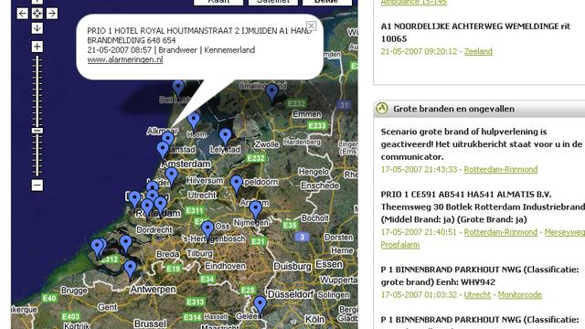 Google Maps Toont Brandweer Ambulance En Politie Algemeen Pcmweb Nl
