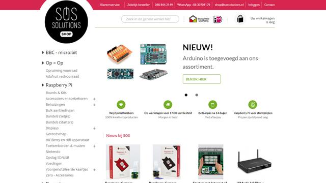 raspberry pi webshop