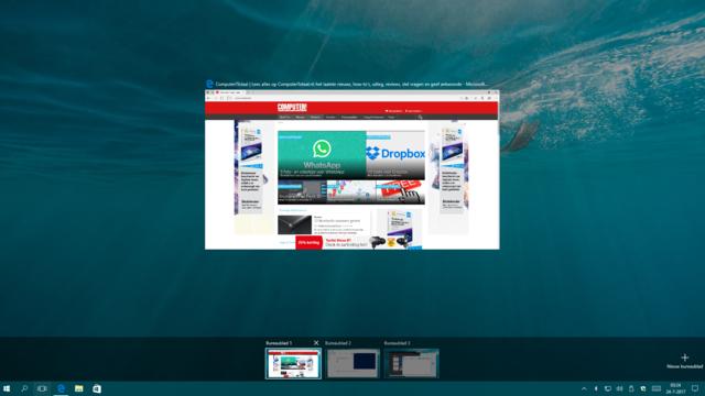 Virtuele bureaubladen in Windows 10
