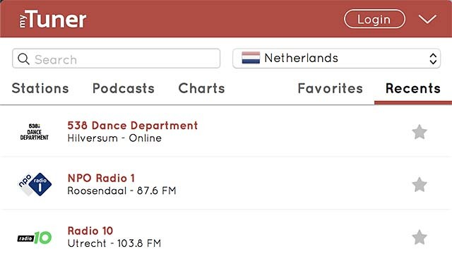 Luister via MyTuner naar radio op je computer of device