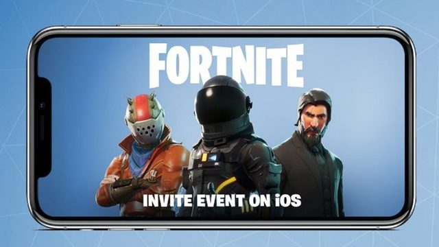 Fortnite uitnodigingsevenement
