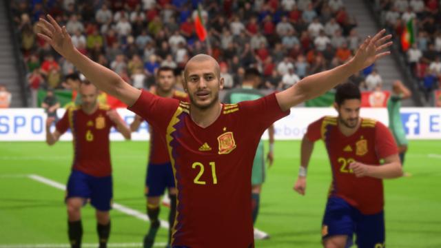 Fifa 18 na een doelpunt