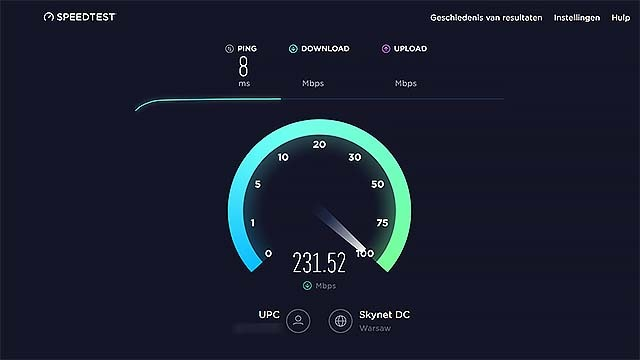 Meet de internetsnelheid met ookla Speedtest