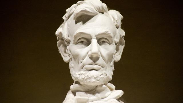 Het beroemde standbeeld van Abraham Lincoln