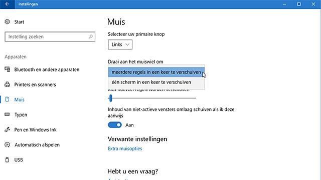 Pas het muisgedrag in Windows 10 aan
