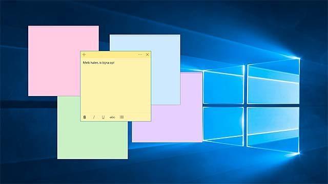 Sticky Notes in virtuele vorm onder Windows 10
