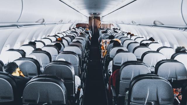 vliegtuig passagiers stoelen
