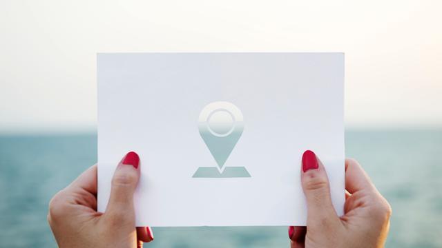 gps zee papier locatie