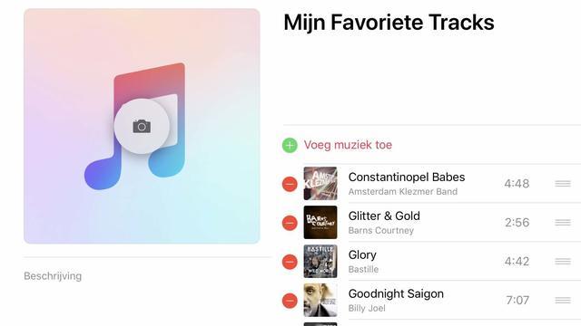Voeg tracks naar smaak toe aan je afspeellijst voor iTunes in iOS