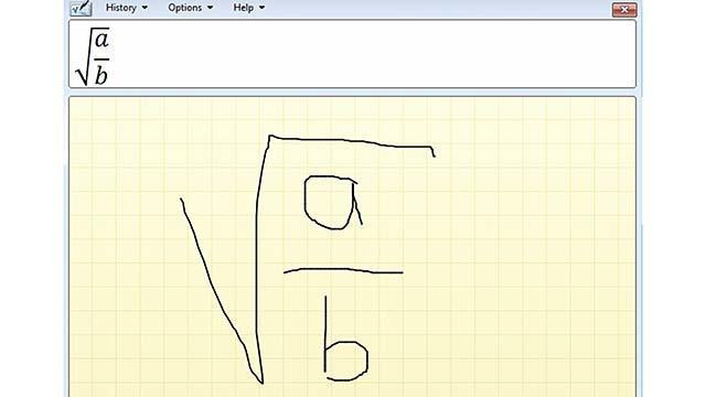 Teken je wiskundige formules eens in Windows 10