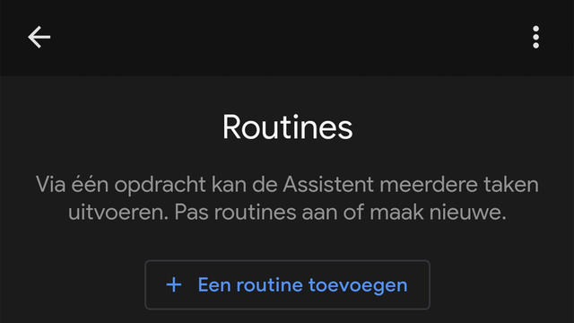 Routines op Google Assistent.