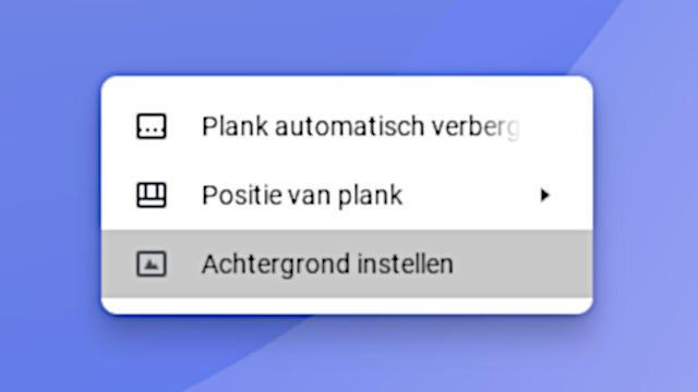 Bureaubladachtergrond en meer van je Chromebook wijzigen