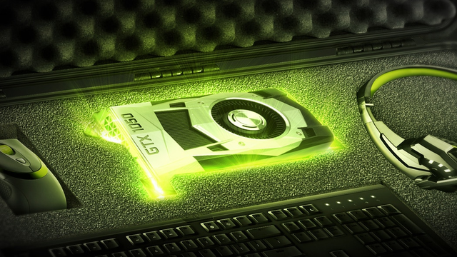 Promotionele afbeelding van de GeForce GTX 1050-serie van NVIDIA.