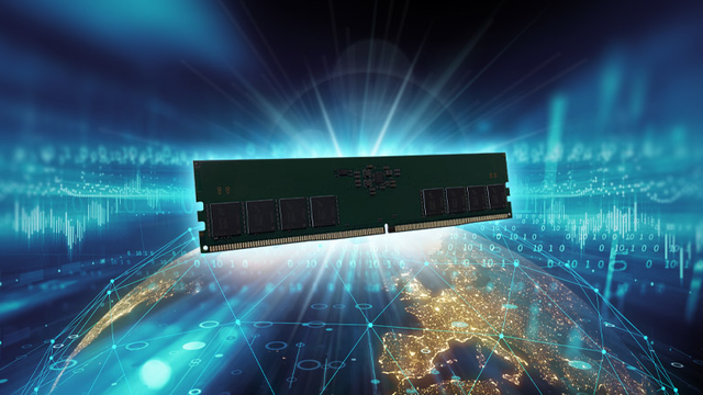 Collagebeeld van een blootgestelde DDR5-geheugenschijf, afkomstig van TeamGroup.