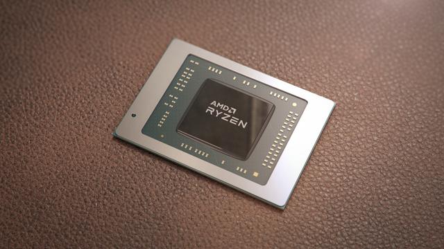 Promotionele render van een mobiele AMD Ryzen-processor.