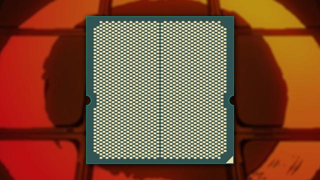 Uitgelekte illustratie van de achterzijde van vermoedelijk de eerste Zen 4-processor die AMD voor consumenten produceert.