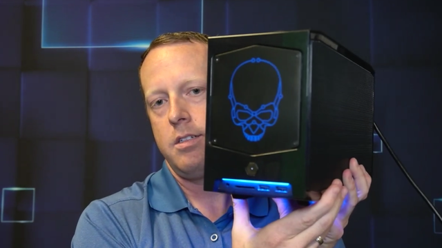 Screencap van een presentatie over de Beast Canyon-lijn van Intel, een onderdeel van de NUC 11-generatie minicomputers van Intel.