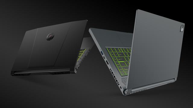 MSI's Alpha 15 (links) en delta 15 (rechts) AMD-laptops.