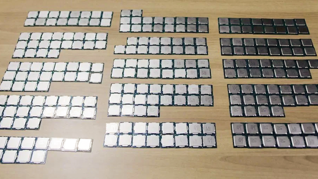 Honderden Intel-processoren uit de smokkel.