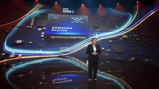 AMD-persconferentie met Dr. Lisa Su over mobiele RDNA2-gpu's in Samsung-chips.