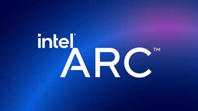Het logo van Intel Arc