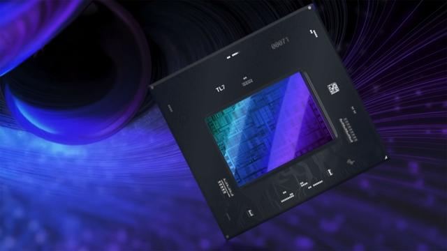 Render van een Intel Arc-chipset.