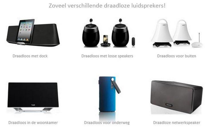 Soorten draadloze speakers