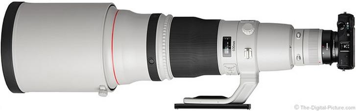 Canon EOS M met EF-lens