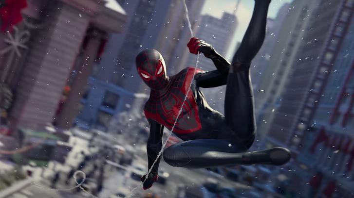 Spider-Man: Miles Morales webslinging