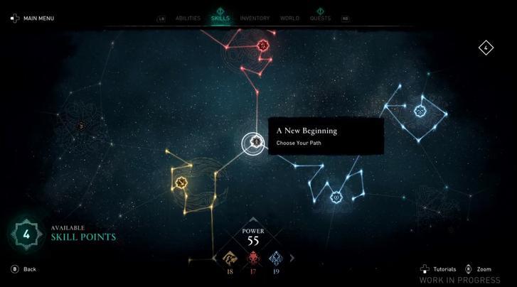 Assassin's Creed Valhalla skill tree